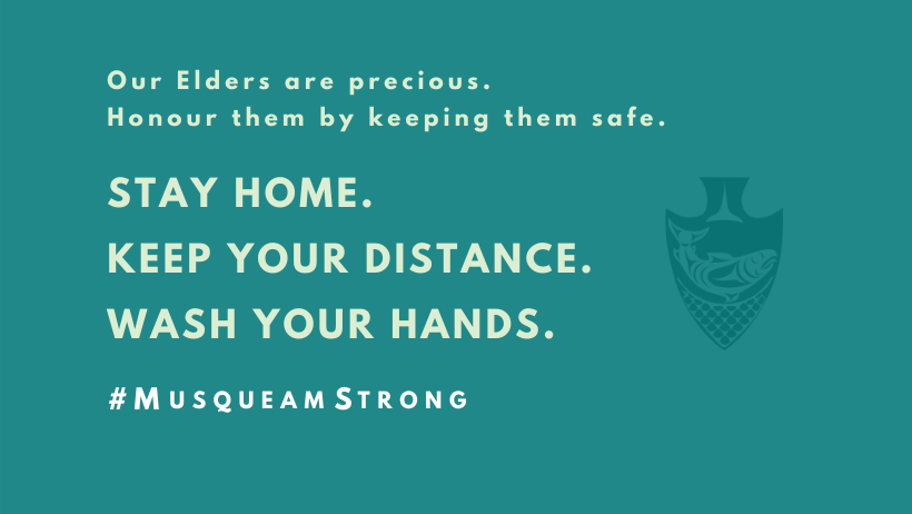 Our Elders are precious. Honour them by keeping them safe.