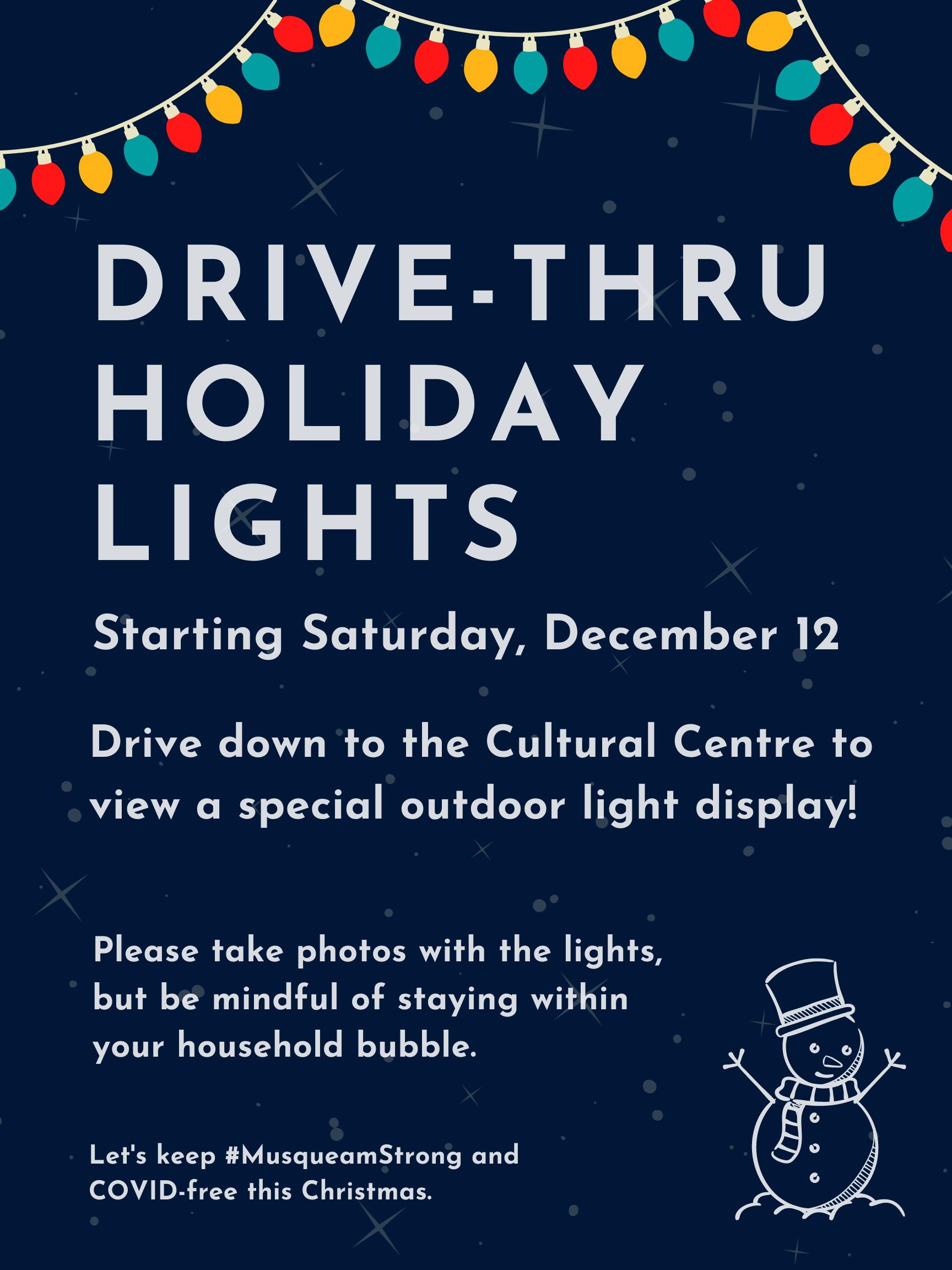Drive thru holiday lights