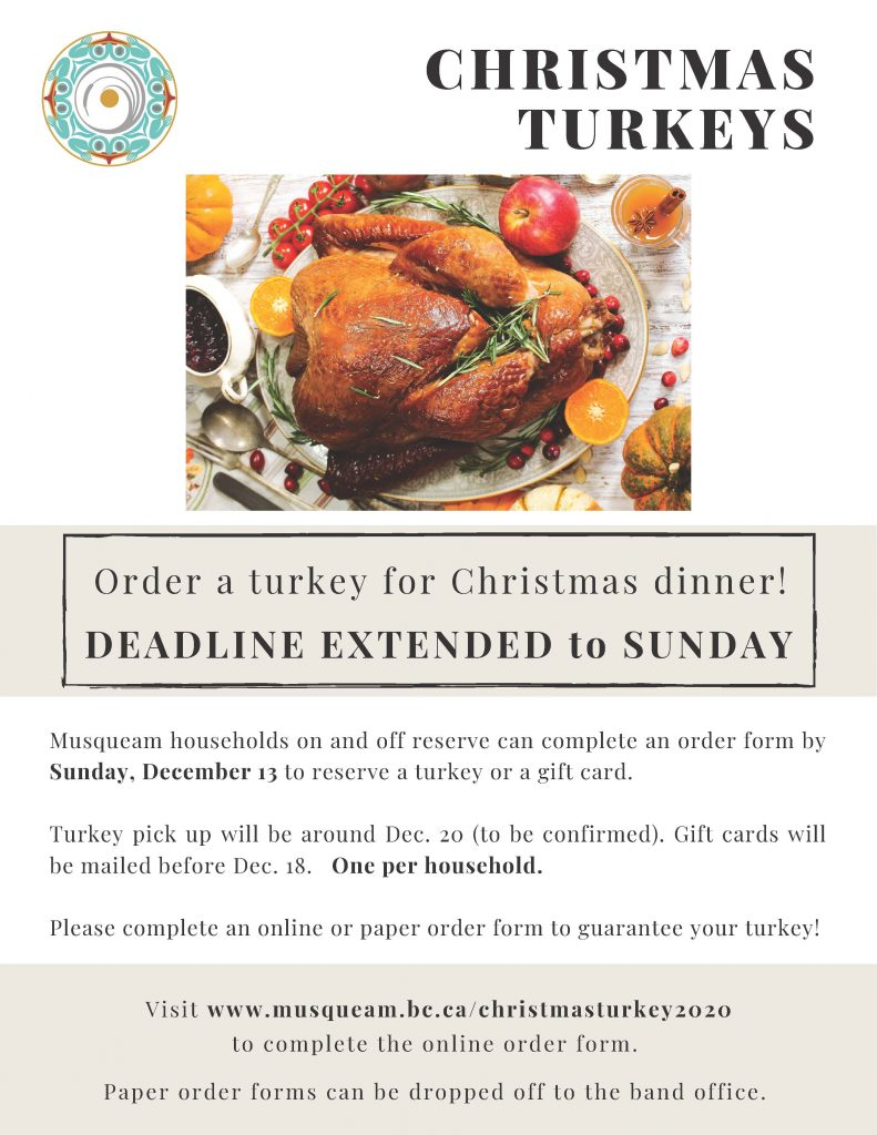 christmas turkey flyer 2020
