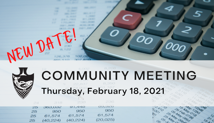 New date for community meeting is February 18