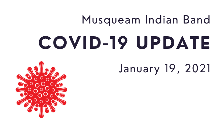 Musqueam Covid-19 update for January 19, 2021