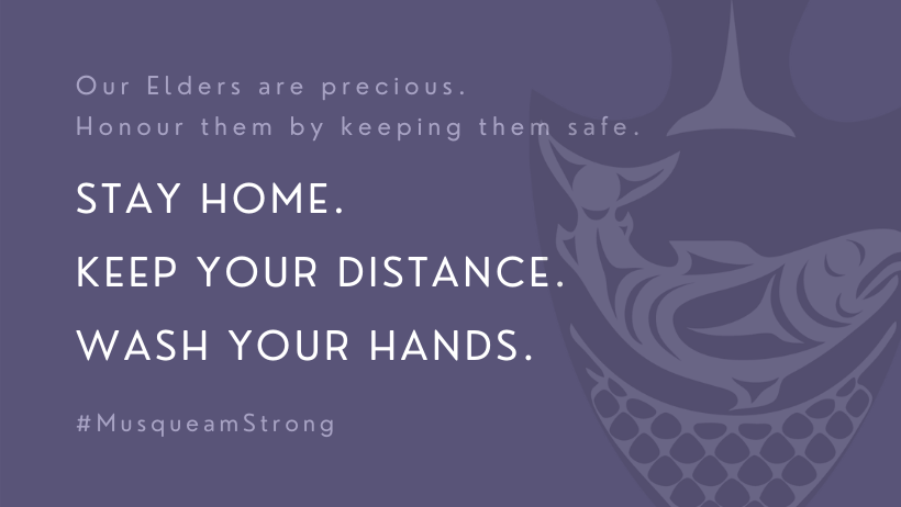 """image with text stating """"stay home. key your distance. wash your hands."""""""