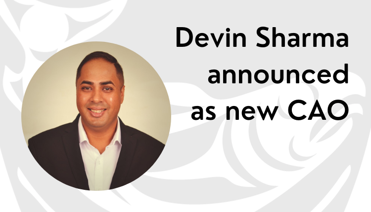 Photo of Devin Sharma, Musqueam's new Chief Administrative Officer
