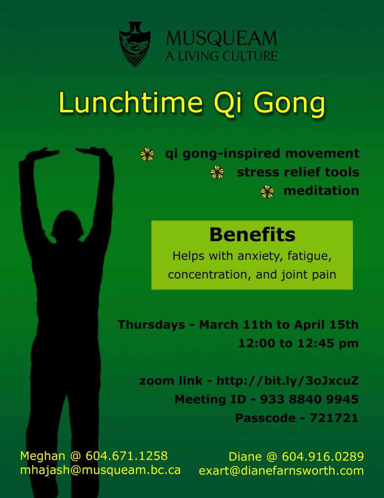 Lunchtime Qi Gong Poster for Spring 2021