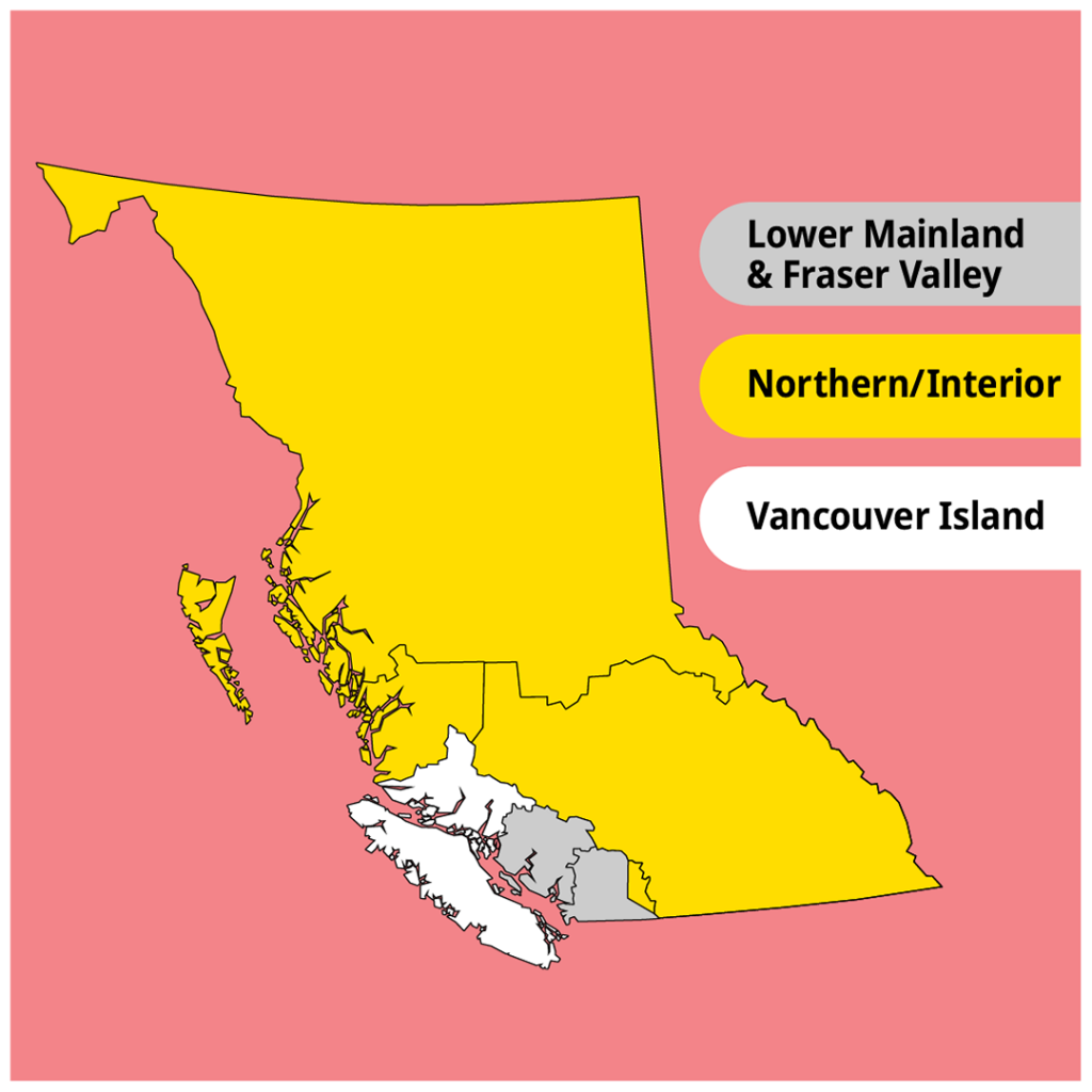 BC Provincial Travel Zones April 2021 COVID-19