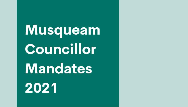 Musqueam Councillor Mandates 2021