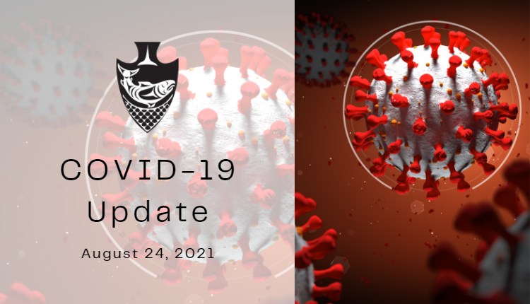 COVID-19 Update from Musqueam Indian Band for August 24, 2021