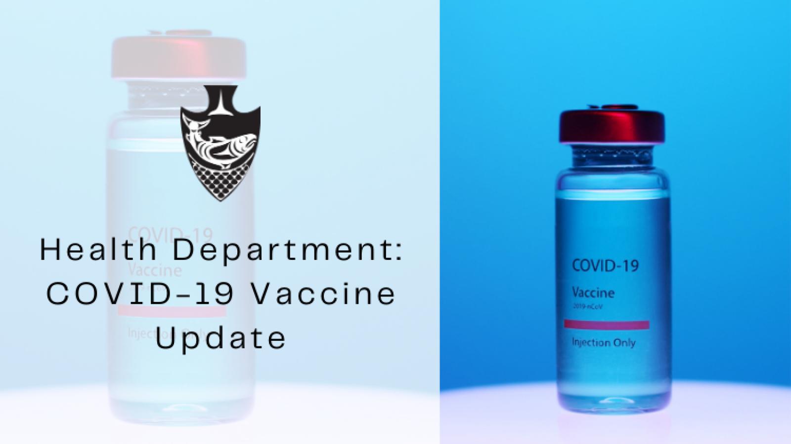 COVID Vaccine Health department update