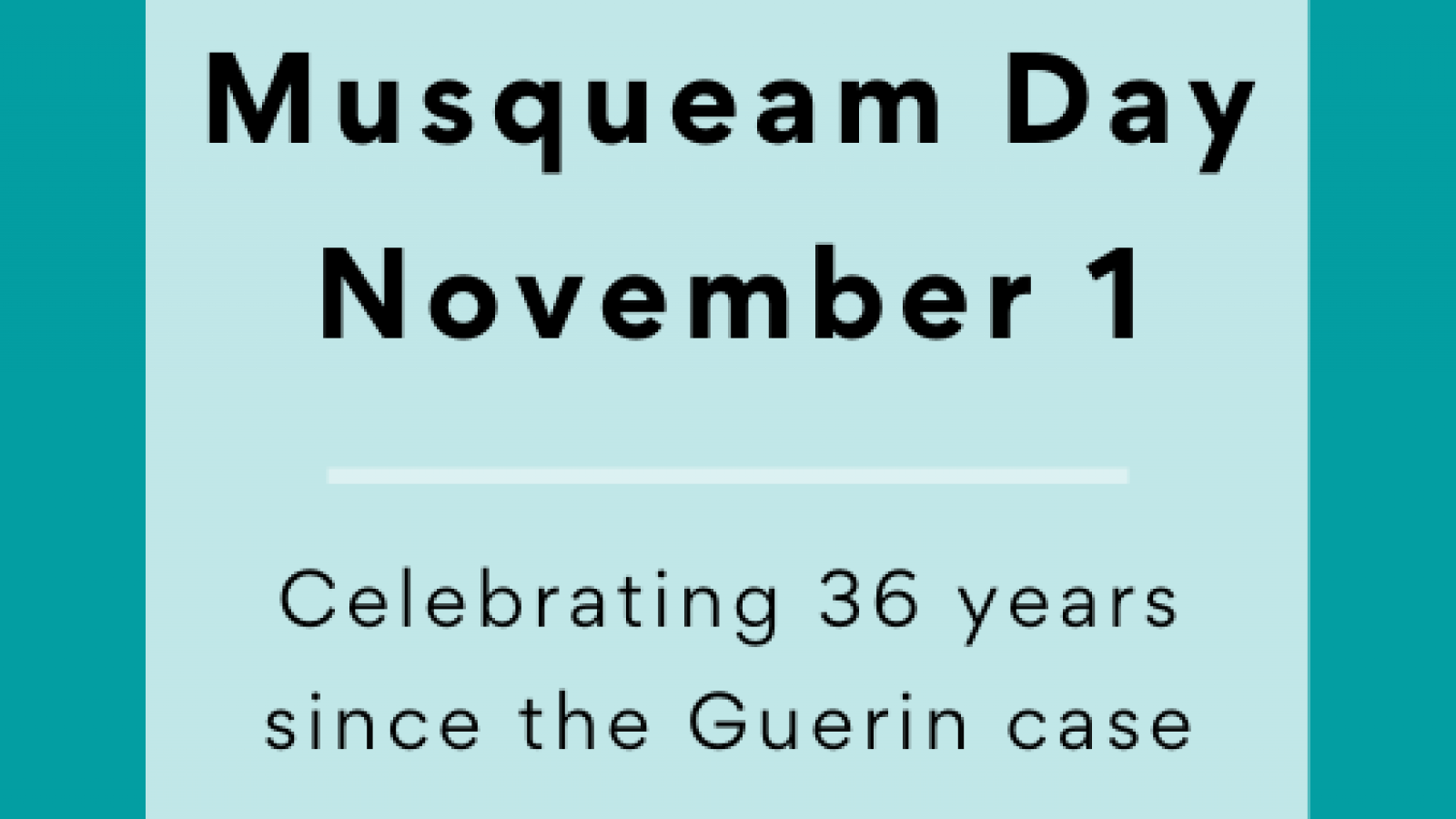 musqueam day november 1