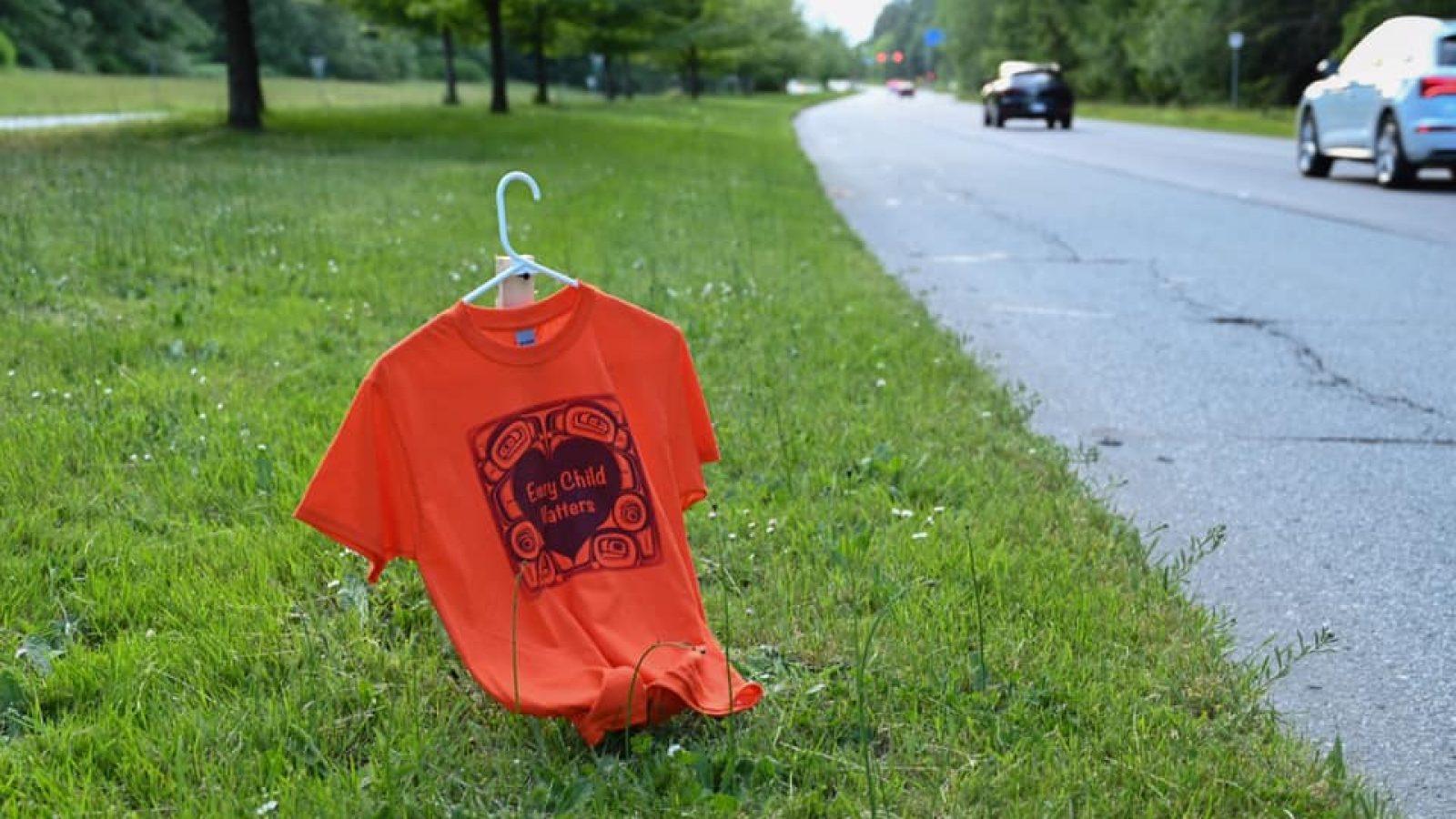 Orange Shirt on SW Marine Drive